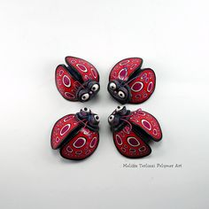 Love bugs magnets | Melissa Terlizzi, polymer clay