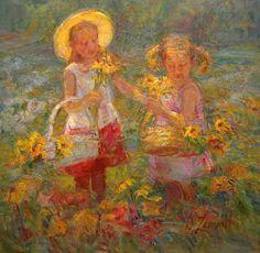 american impressionist flowers | Diane Leonard | American Impressionist