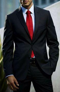 Bildresultat för christmas red tie look