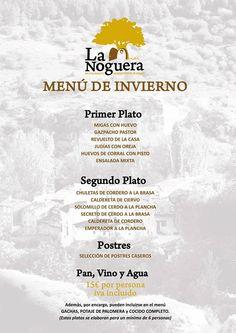Comida casera, elaborada de forma tradicional, con productos frescos. ¡No te lo pierdas! http://www.hostallanoguera.net/menu-de-invierno-en-la-noguera/ #Restaurante #Cuenca #Palomera #Menú #Invierno