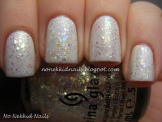 No Nekkid Nails: Dupes? A comparison of China Glaze Snow Globe & China Glaze Make a Spectacle over OPI My Boyfriend Scales Walls