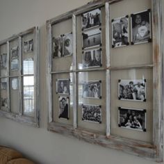 Window pane picture frame... On either side of window in family room
