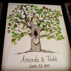 The wedding fingerprint tree I made for my friend, Amanda.