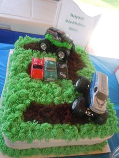 Monster Jam cake, cool