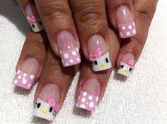 71 Mejores Imágenes De Uñas Hello Kitty Cute Nails Hello Kitty