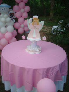 """Centro de mesa para fiesta """"bautizo"""""""