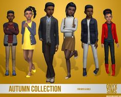 Onyx Sims: Kids autumn collection • Sims 4 Downloads
