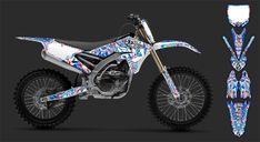 APICO Anodised Wide Footpegs Race Motocross Offroad Yamaha YZ 125 2003 Blue