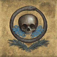 Previous pinner wrote: The Ouroboros is an ancient symbol depicting a serpent or… Memento Mori, Ouroboros, Crane, Danse Macabre, Serpent, Freemasonry, Bear Art, Ancient Symbols, Vanitas