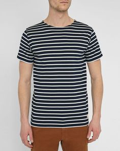 Blue Mercerised Sailor Stripe Top ARMOR LUX