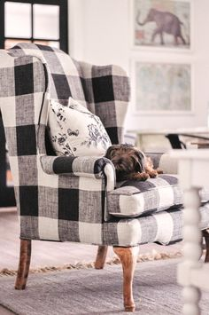 3bb9bc0cd5f5 Nov 8 Our Farmhouse Living Room Makeover + Our Buffalo Check Chair!