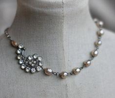 Bridal necklace by crownedbygrace.etsy.com