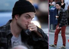 On the set of Cosmopolis.        RP ♡