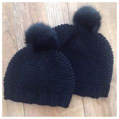 Tuto cap child and adult - Knitting 02 Baby Hats Knitting, Crochet Baby Hats, Free Knitting, Knitted Hats, Knit Crochet, Tricot Baby, Black Beanie, Knitting Accessories, Beanie Hats
