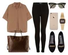 """Sin título #13084"" by vany-alvarado ❤ liked on Polyvore featuring Donna Karan, Topshop, Louis Vuitton, H&M, Ray-Ban and Casio"