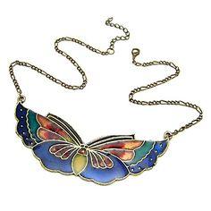 EUR € 7.35 - borboleta do vintage liga acrílico colar (compre 1 get 1 presente), Frete Grátis em Todos os Gadgets!