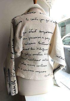 Veste blanche - Françoise Hoffmann Texte Michel Butor Feutre hybride laine et soie Exposition Novembre 2014