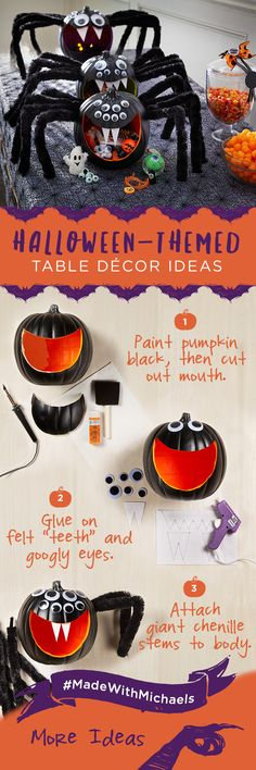 Showcase some creepy crawlers on your table this Halloween.