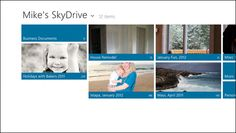 In Windows 8, part of the native way in which you will be able to seamlessly access SkyDrive-based files of all kinds is via a new Metro-style SkDrive app that will surface you entire SkyDrive cloud--i.e. the files and folders you currently access mostly through the web--using a simple and friendly Metro-style user experience. (And yes, a preview version of this app will be included in the Windows 8 Consumer Preview.)