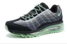 Bon Nike Air Max 95 Gris Vert Noir Chaussures De Course Pour Les Femmes au nikeairpascher.net à Vendre en Ligne
