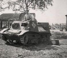 A Russian T-20 artillery tractor in German service