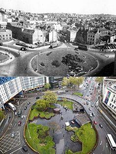 Bristol Then & Now - St. James's Barton roundabout