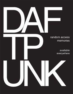 Poster for Daft Punk cd, Random Access Memories of Random Access, Daft Punk, My Design, Company Logo, Memories, Logos, Poster, Memoirs, Souvenirs