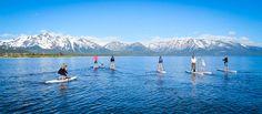 Standup Paddleboarding on Lake Tahoe at Zephyr Cove Marina
