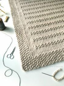 """I'm excited to announce my new blanket knitting pattern called """"Stones in the Road"""". I'm thrilled with how this pattern turned out! The """"..."""