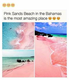 Pink Sand Beach - Bahamas A marvellous place. Amazing Places On Earth, Beautiful Places To Travel, Cool Places To Visit, Places To Go, Vacation Places, Dream Vacations, Nature Photography, Travel Photography, Stunning Photography