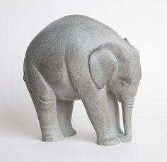#Bronze Wild Animals and Wild Life #artwork by #artist Florence JACQUESSON titled: 'Naissance (Baby Indian Elephant Calf bronze statue/statuette/figurine)'. #art #sculptor #sculpture #FlorenceJACQUESSON