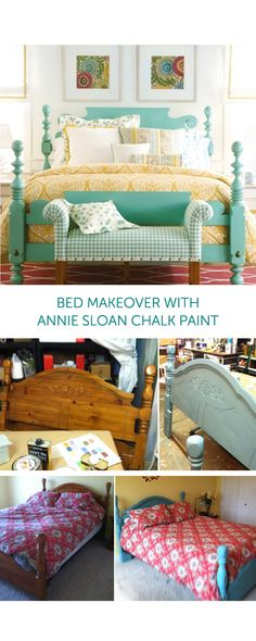 Brown bed makeover with annie sloan chalk paint Pine Bedroom Furniture, Bedroom Furniture Makeover, Furniture Decor, Furniture Stores, Origami Furniture, Furniture Repair, Furniture Outlet, Brown Furniture, Furniture Hardware
