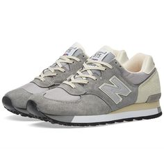 New Balance M575GRW - Made in England (1,025 CNY) ❤ liked on Polyvore featuring men's fashion, men's shoes, new balance mens shoes and mens mesh shoes