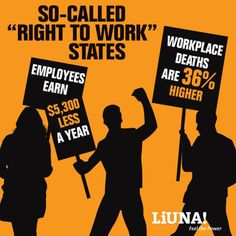 """""""Right to work"""" is corporate thievery packaged as freedom. It's freedom from making more money in a safe workplace."""