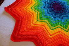 Ravelry: Project Gallery for Rainbow Ripple Baby Blanket pattern by Celeste Young ~ free pattern ᛡ