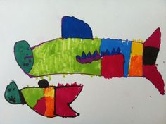 Sharks by 4 year old child.