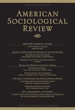 SAGE: American Sociological Review0003-1224, 1939-8271