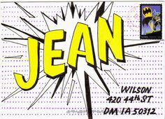 pushing the envelopes: Batman, halftone dots & comic Pow lettering
