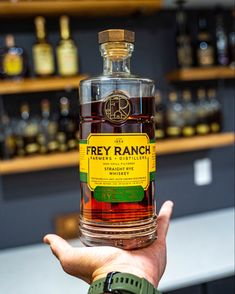 Frey Ranch Bottled in Bond Straight Rye Whiskey Review Rye Whiskey, Whiskey Bottle, Ranch, Bond, Drinks, Guest Ranch, Drinking, Beverages, Drink