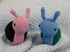 Amigurumi Snail: $10 + S&H Great for your desk accessories!