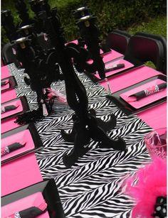 Inspirational Zebra and Pink Decorations