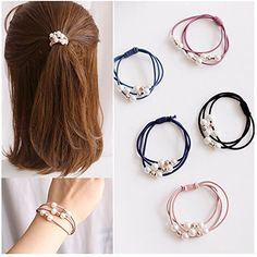 Hairband Rope Kid Ponytail Holder Rubber Elastic Hair Band Ties Braids RS