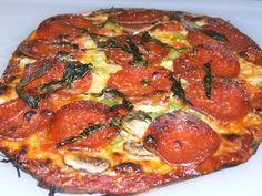 Whole Wheat Flatbread Pizza with Our House Marinara, Onions, Green Pepper, Roasted Red Pepper, Crimini Mushrooms, Fresh Basil