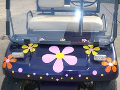 Hippy Flowers for your Golf Cart vinyl decal sticker by tonyabug
