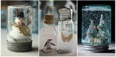 DIY snow globe inspiration and instructions