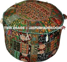 #indianpouf #patchworkpouf #pouf #ottoman #ikeapouf #footstool #chair #floorcushion #embroideredpouf #handmadepouf #pouffe #outdoorfurniture #patiofurniture Pouf Chair, Ottoman Footstool, Ottoman Cover, Ikea Pouf, Leopard Print Chair, Green Accent Chair, Bean Bag Bed, Leather Chaise Lounge Chair, Lounge Chairs