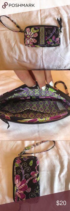 Vera Bradley Wristlet Purple Punch Pattern Wristlet Vera Bradley Bags Clutches & Wristlets