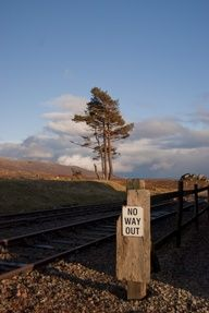 'End of the Line' - Ricky Hay   Got to Corrour station & read the signpost then had to just compose this angle for the shot