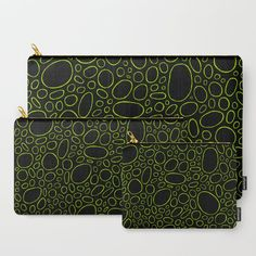 Organic - Lime Green Carry-All Pouch by laec | Society6
