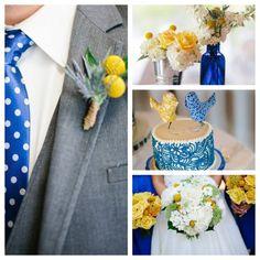 My June wedding - Cobalt & Yellow  (Alex Bee Photography)
